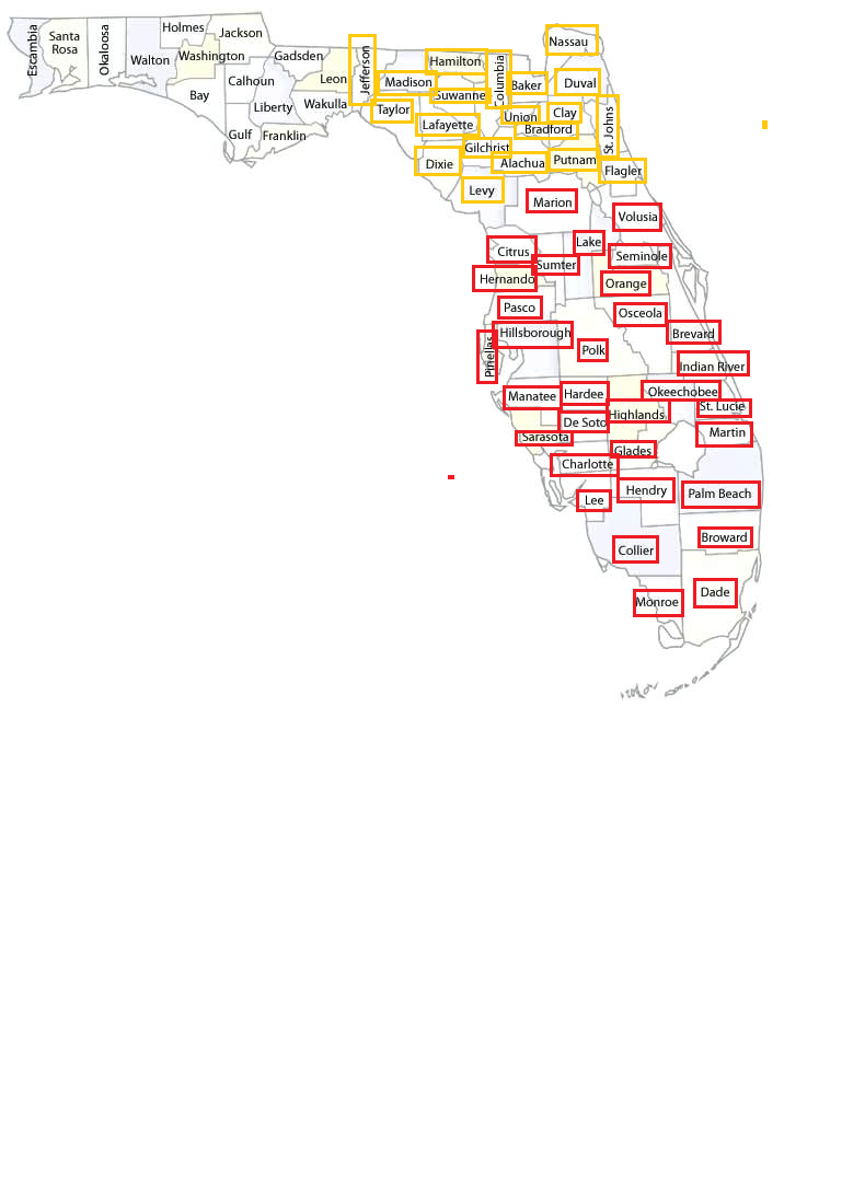 Servicing Counties: Current Summer 2019
