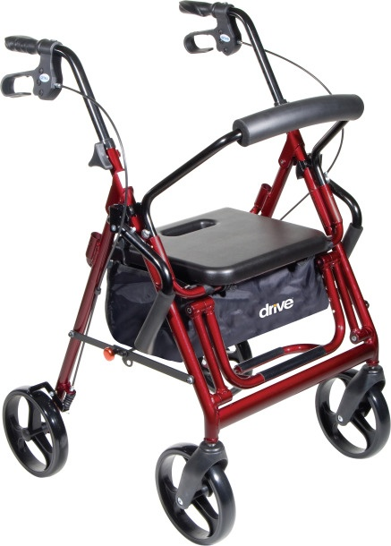 "Duet Rollator/Transport Chair, 8"" Casters"
