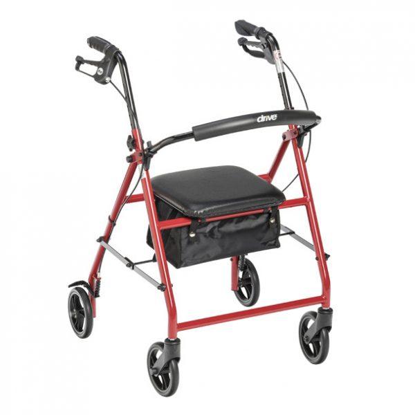 Duet Rollator/Transport Chair, 8″ Casters