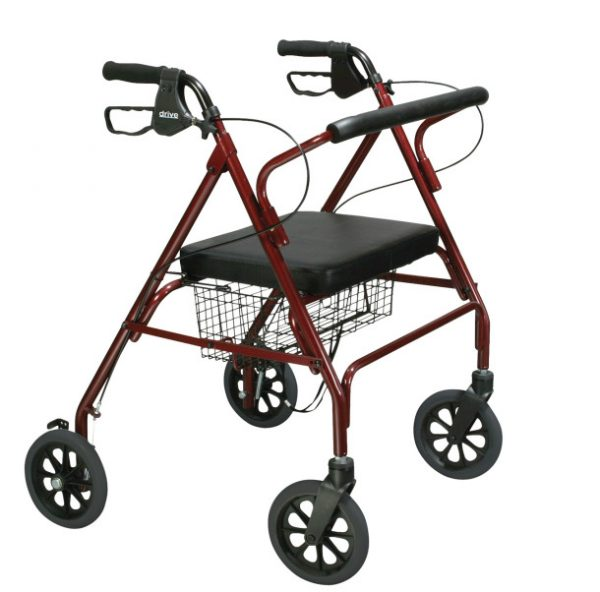 Aluminum Rollator, 7.5″ Casters, Baileys Medical Supplies
